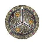 Bejeweled Celtic Shield Ornament (Round)