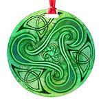 Celtic Triskele Round Ornament
