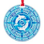 Celtic Dolphins Round Ornament