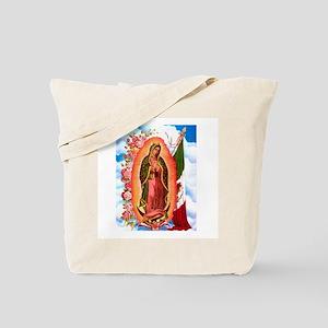 Virgen de Guadalupe - Mexican Flag Tote Bag