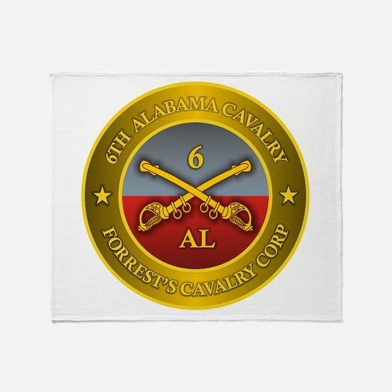 6th Alabama Cavalry Throw Blanket