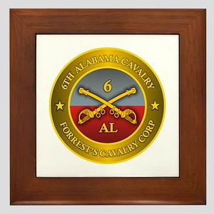 6th Alabama Cavalry Framed Tile