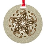 Celtic Star Round Ornament