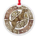 Celtic Dog Round Ornament