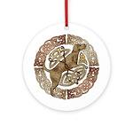 Celtic Dog Ornament (Round)