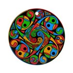 Celtic Stained Glass Spiral Ornament (Round)
