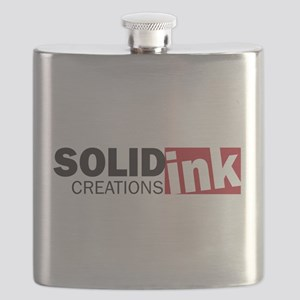 The Solid Ink Creations Logo Flask