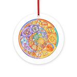 Celtic Crescents Rainbow Ornament (Round)