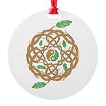 Celtic Nature Yin Yang Round Ornament