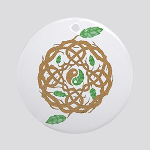 Celtic Nature Yin Yang Ornament (Round)