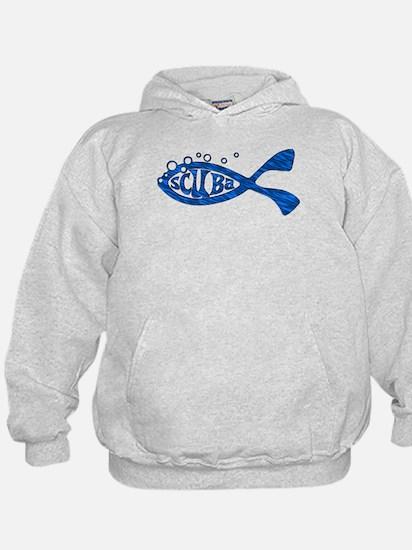 Scuba Fish Blues Hoodie