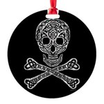 Celtic Skull and Crossbones Round Ornament