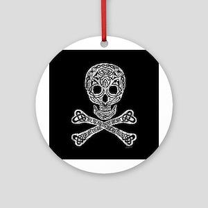 Celtic Skull and Crossbones Ornament (Round)