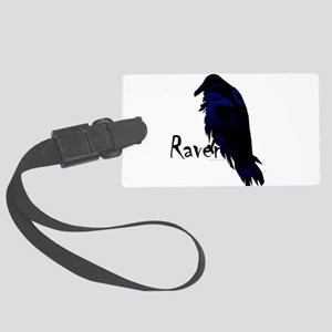 Raven on Raven Large Luggage Tag