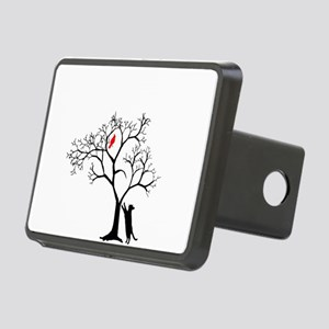 Red Cardinal in Tree with Rectangular Hitch Cover