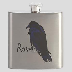 Raven on Raven Flask