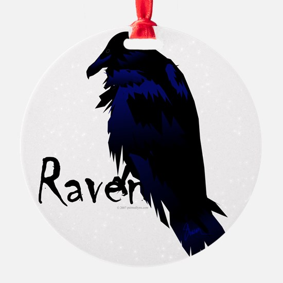 Raven on Raven Ornament
