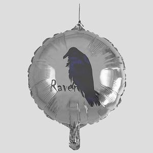 Raven on Raven Mylar Balloon