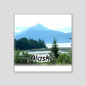 """Alaska Scenic View Square Sticker 3"""" x 3"""""""