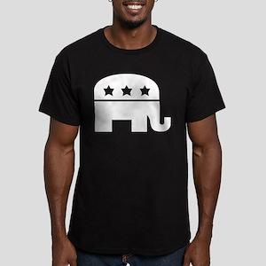 Republican Elephant White Men's Fitted T-Shirt (da