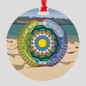 Summer Sunshine Round Ornament