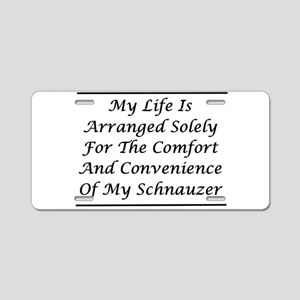 Schnauzer Convenience Aluminum License Plate