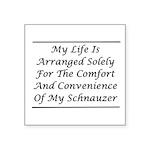 Schnauzer Convenience Square Sticker 3