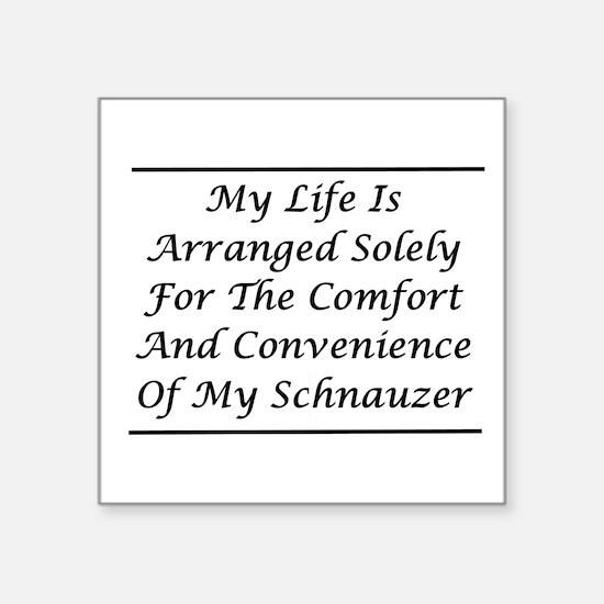 """Schnauzer Convenience Square Sticker 3"""" x 3"""""""