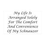 Schnauzer Convenience 35x21 Wall Decal