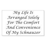 Schnauzer Convenience Sticker (Rectangle 10 pk)