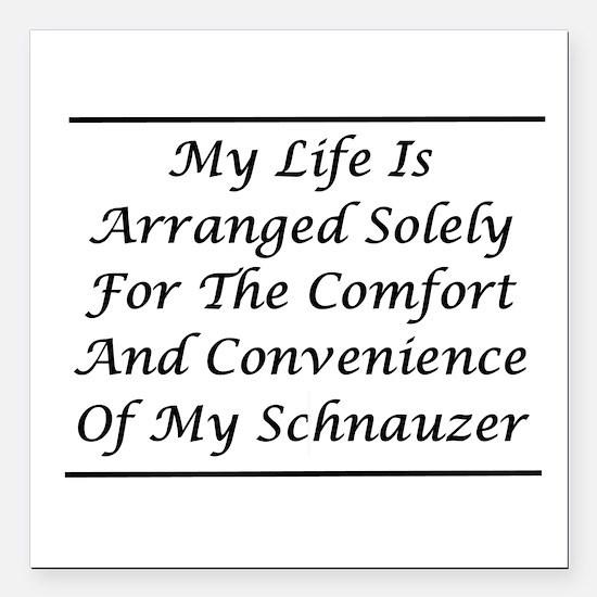"Schnauzer Convenience Square Car Magnet 3"" x 3"""