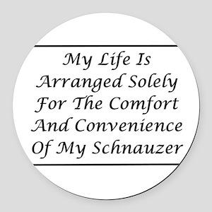 Schnauzer Convenience Round Car Magnet