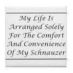 Schnauzer Convenience Tile Coaster