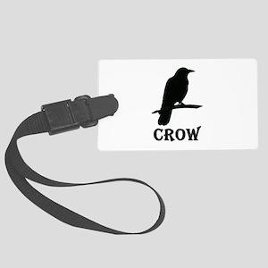 Black Crow Large Luggage Tag