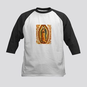Guadalupe with Roses Kids Baseball Jersey