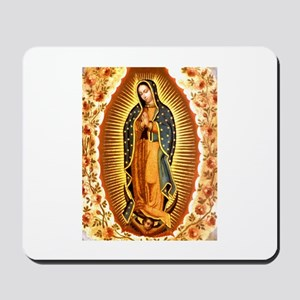 Guadalupe with Roses Mousepad