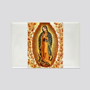 Guadalupe with Roses Rectangle Magnet