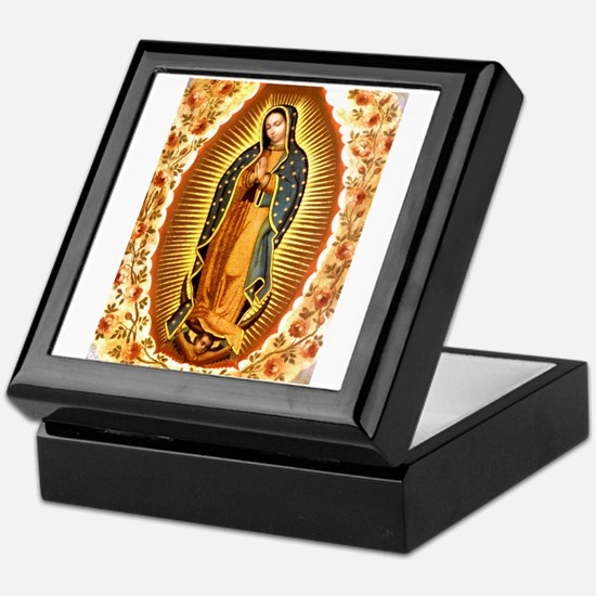 Guadalupe with Roses Keepsake Box