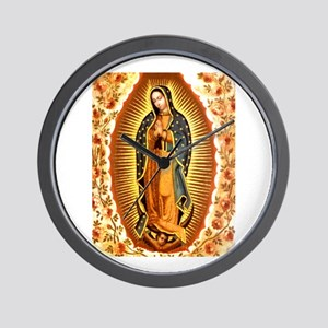 Guadalupe with Roses Wall Clock