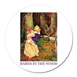 Babes In The Wood Round Car Magnet
