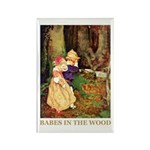 Babes In The Wood Rectangle Magnet