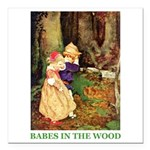 Babes In The Wood Square Car Magnet 3