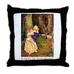 Babes In The Wood Throw Pillow