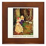 Babes In The Wood Framed Tile