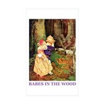 Babes In The Wood Sticker (Rectangle 10 pk)