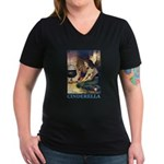 Cinderella Women's V-Neck Dark T-Shirt