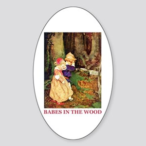 Babes In The Wood Sticker (Oval)