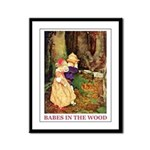 Babes In The Wood Framed Panel Print