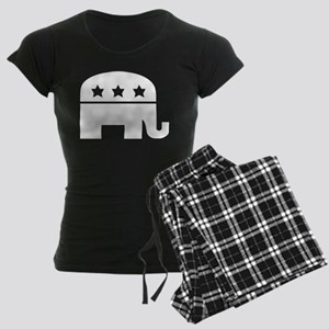 Republican Elephant White Women's Dark Pajamas