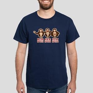 Text No Evil Dark T-Shirt